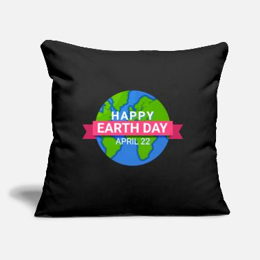 "Save Happy Earth Day - Earth Day April 22 - Throw Pillow Cover 18"" x 18"""