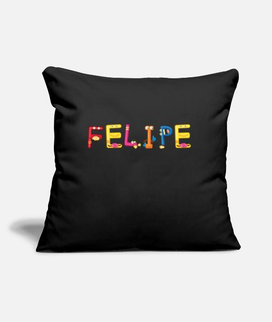 "Felipe Present Pillow Cases - Felipe - Throw Pillow Cover 18"" x 18"" black"