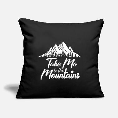 "Text Take Me To The Mountains - Throw Pillow Cover 18"" x 18"""