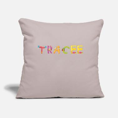 "Trace Tracee - Throw Pillow Cover 18"" x 18"""
