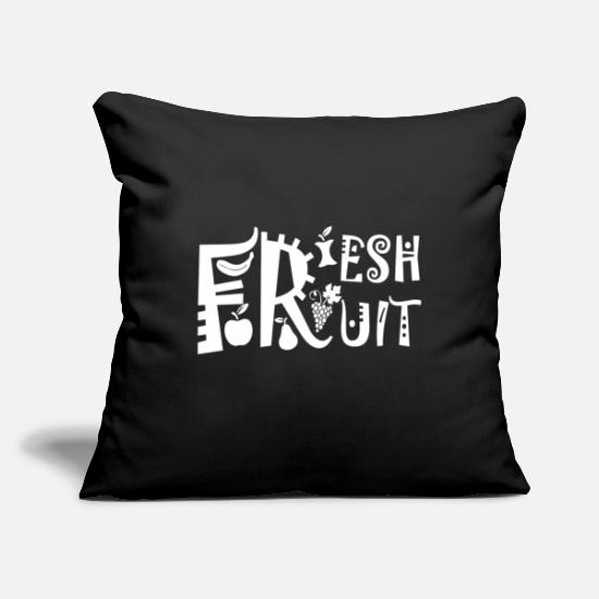 "Tree Pillow Cases - Fruit - Throw Pillow Cover 18"" x 18"" black"