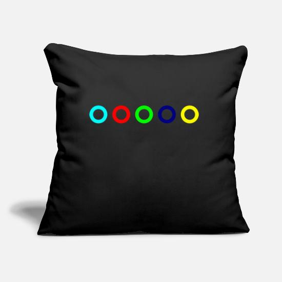 "Symbol  Pillow Cases - Circle - Throw Pillow Cover 18"" x 18"" black"