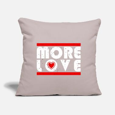 "Mode More love - typography with heart - Throw Pillow Cover 18"" x 18"""