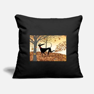 "Greyhound Antlers - Throw Pillow Cover 18"" x 18"""