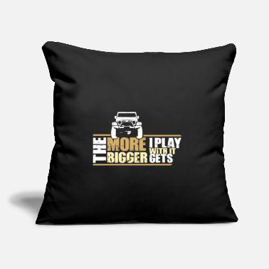 "The Bigger It The More I Play With It The Bigger It Gets Gift - Throw Pillow Cover 18"" x 18"""