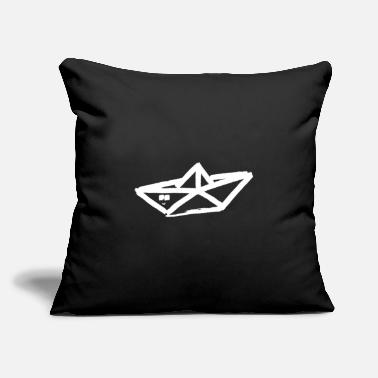 "Tinker paper boat minimalism tinker tinkering handicrafts - Throw Pillow Cover 18"" x 18"""