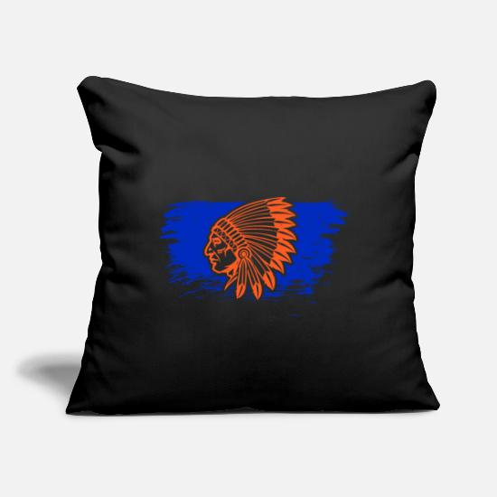 "Dream Catcher Pillow Cases - American Indians - Throw Pillow Cover 18"" x 18"" black"