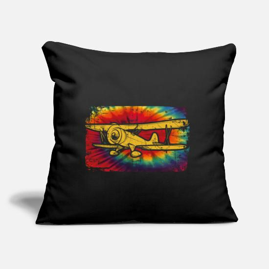 "Flight Pillow Cases - Flying - Throw Pillow Cover 18"" x 18"" black"