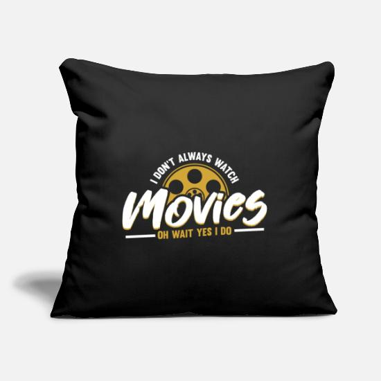 "Movie Pillow Cases - Movie - Throw Pillow Cover 18"" x 18"" black"