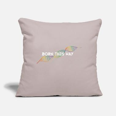 "Dns Born this way - rainbow DNS - Throw Pillow Cover 18"" x 18"""
