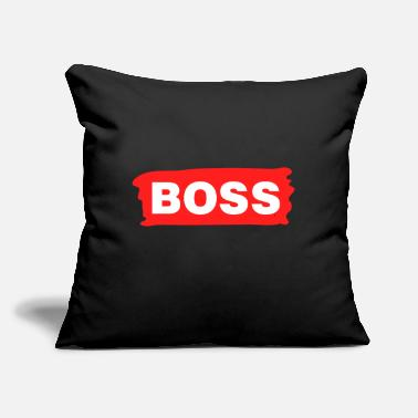 "Boss Boss - Throw Pillow Cover 18"" x 18"""
