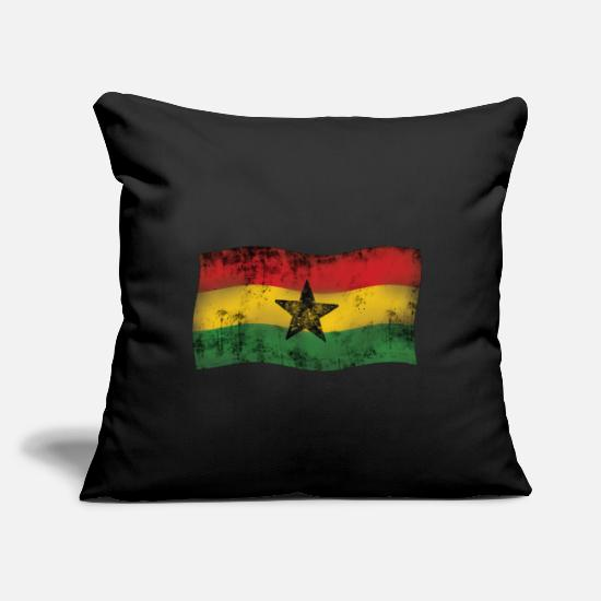 "Reggae Pillow Cases - Rasta Reggae Flag Star - Throw Pillow Cover 18"" x 18"" black"