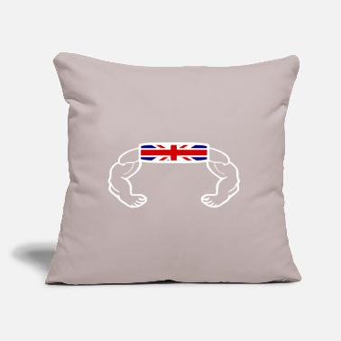 "Uk Union jack - Throw Pillow Cover 18"" x 18"""