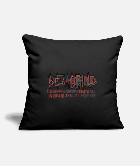"Heavy Metal Pillow Cases - DEATHGRIND - Throw Pillow Cover 18"" x 18"" black"