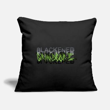 "Grindcore BLACKENED GRINDCORE - Throw Pillow Cover 18"" x 18"""