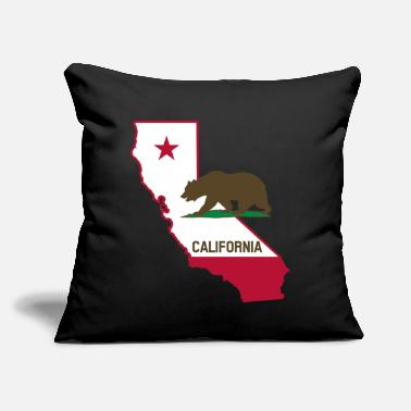 "State CALIFORNIA STATE WITH STATE BEAR - Throw Pillow Cover 18"" x 18"""