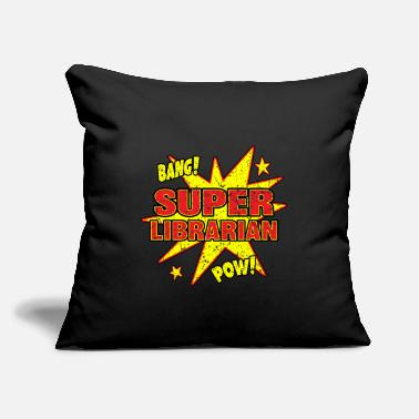 "Public Viewing Super Librarian Super Power Public Library Gift - Throw Pillow Cover 18"" x 18"""