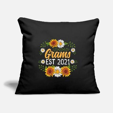 "Grams Est 2021 Cute Sunflower Gifts New Grams - Throw Pillow Cover 18"" x 18"""
