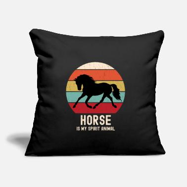 "Horse Is My Spirit Animal Reto Vintage Horse Lover - Throw Pillow Cover 18"" x 18"""