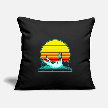 "Fainted Vintage Fainting Goat Vaporwave - Throw Pillow Cover 18"" x 18"""
