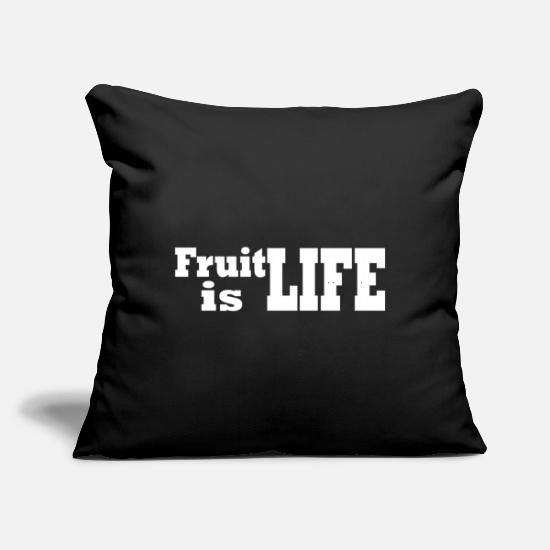 "Fruits Pillow Cases - Fruit - Throw Pillow Cover 18"" x 18"" black"