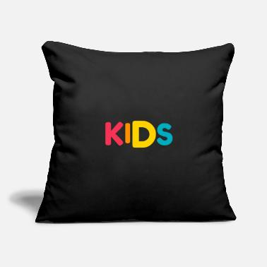 "Kid Kids - Throw Pillow Cover 18"" x 18"""