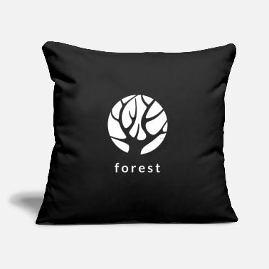 "Forest Forest - Throw Pillow Cover 18"" x 18"""