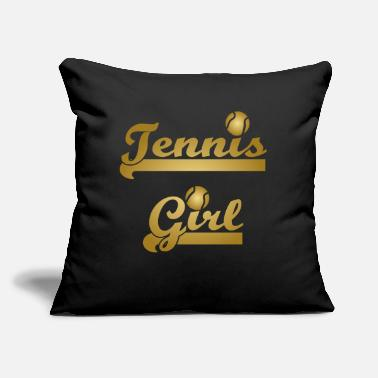 Gold Tennis Girl Gold cool quote gift idea X-mas - Throw Pillow Cover