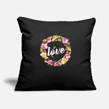 "Lilac Pretty floral motive - love - Throw Pillow Cover 18"" x 18"""