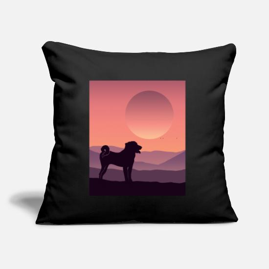 "Mountains Pillow Cases - Appenzell Mountain Dog - Throw Pillow Cover 18"" x 18"" black"