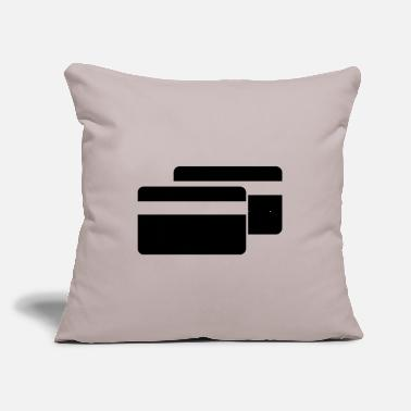 "Cards Cards Credit Cards - Throw Pillow Cover 18"" x 18"""