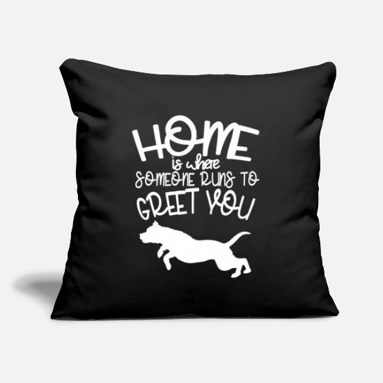 "Dog Pillow Cases - Staffordshire Terrier Sweet saying dog dog owner - Throw Pillow Cover 18"" x 18"" black"
