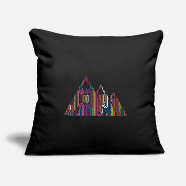 "Mountains Mountains Mountain peaks Mountains - Throw Pillow Cover 18"" x 18"""