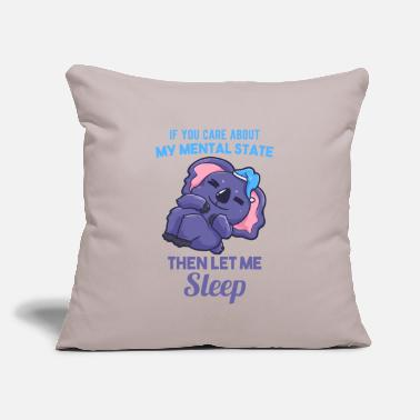 "Pause Koala sleeping Australia bed chill - Throw Pillow Cover 18"" x 18"""