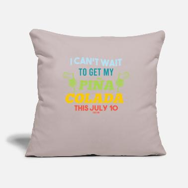 "Cube Pina Colada Cocktail summer pineapple - Throw Pillow Cover 18"" x 18"""