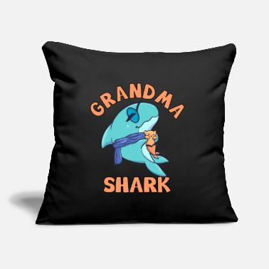 "Sea Grandma Shark old pension grandmother Hai - Throw Pillow Cover 18"" x 18"""