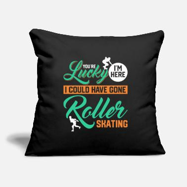 "Roller Skate Roller Skates Roller Skating Roller Skate - Throw Pillow Cover 18"" x 18"""