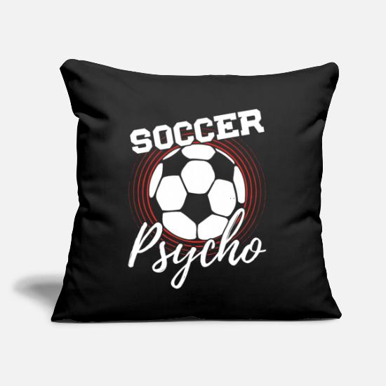 "Soccer Pillow Cases - Soccer - Throw Pillow Cover 18"" x 18"" black"