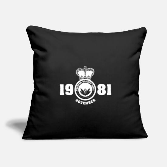 "Gift Idea Pillow Cases - November 1981 Birthday gift - Throw Pillow Cover 18"" x 18"" black"