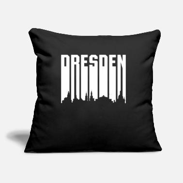 "Font Retro Font Dresden - White Font - Throw Pillow Cover 18"" x 18"""