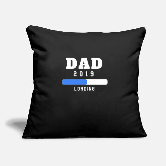 "Funny Pregnancy Pillow Cases - Mens New Dad Loading 2019 - Funny Pregnancy - Throw Pillow Cover 18"" x 18"" black"