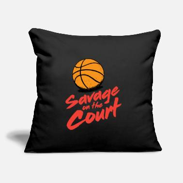 "Court Savage on the court - Throw Pillow Cover 18"" x 18"""