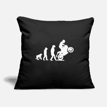 Helmet Motorrad Biker Evolution Geschenkidee - Throw Pillow Cover