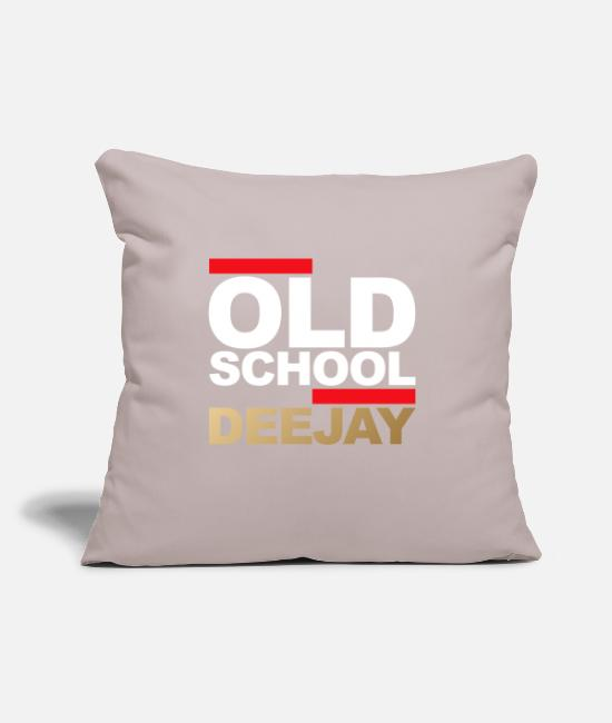 "Celebrate Pillow Cases - Old School Deejay - Throw Pillow Cover 18"" x 18"" light taupe"