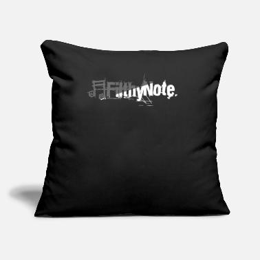 "Note Clue filthy note - Throw Pillow Cover 18"" x 18"""