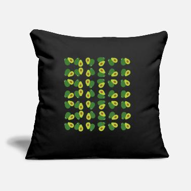 "Banana Avocado Pattern Fruits - Throw Pillow Cover 18"" x 18"""