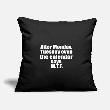 "Monday Monday - Throw Pillow Cover 18"" x 18"""