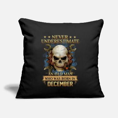 "December Woman DECEMBER - NEVER UNDERESTIMATE - Throw Pillow Cover 18"" x 18"""