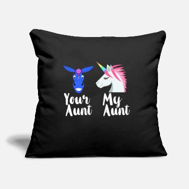 "Family Funny Aunt - Your My Family - Sister Kin Humor - Throw Pillow Cover 18"" x 18"""
