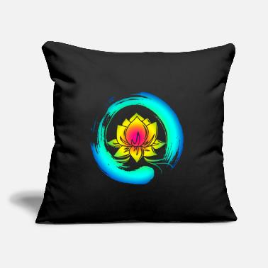 "Enso Zen Circle Lotus Flower Symbol Buddhism Yoga - Throw Pillow Cover 18"" x 18"""